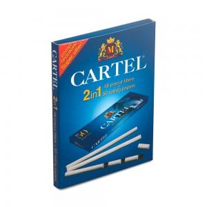 Фильтры сигаретные Tips CARTEL Pre-cu 2 in 1 Blue